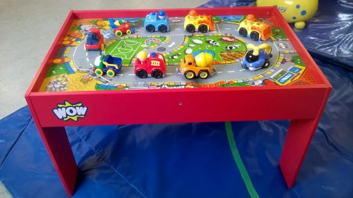 activity table hire with toy cars, Southampton, Hampshire