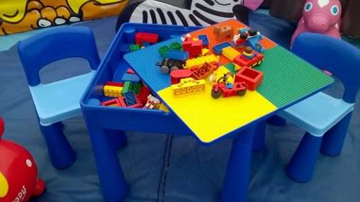 Duplo preschool table and chair hire