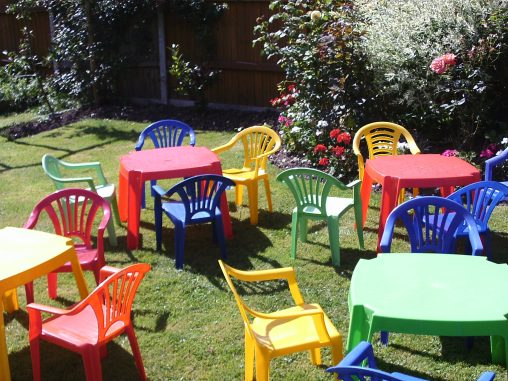 Toddler preschool table and chair hire, hampshire