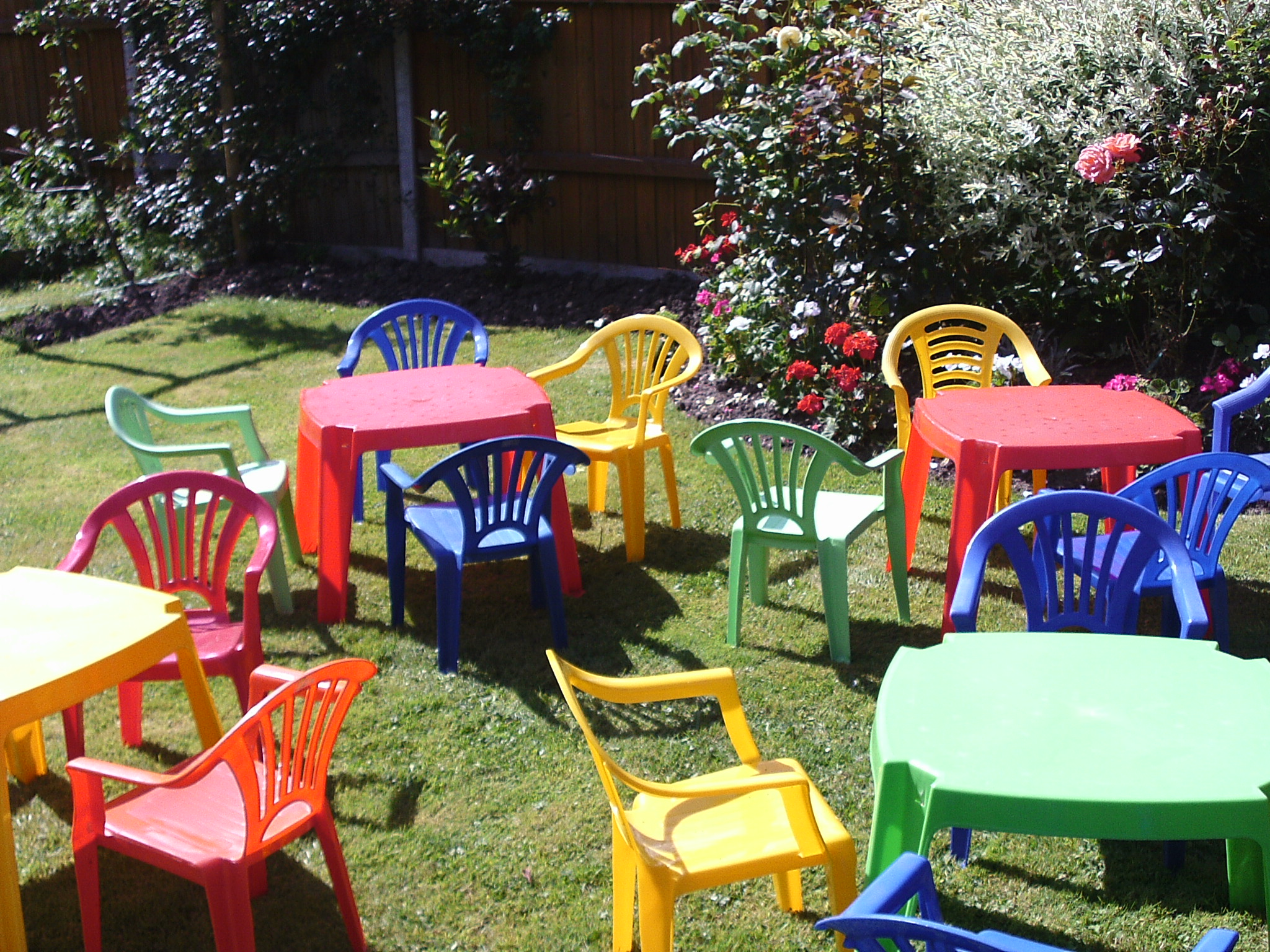 toddler preschool table and chair hire, southampton