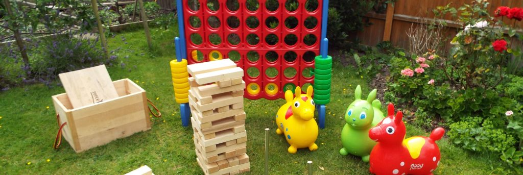 Giant garden Party Games Package Weddings Jenga Connect 4 Bouncy Castle Southampton