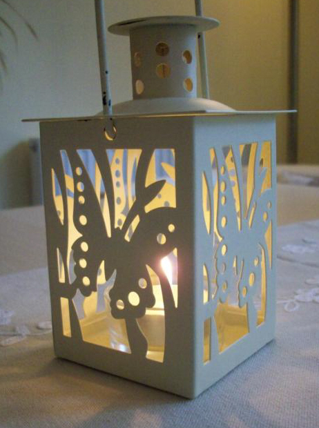 Butterfly table lanterns wedding party hire southampton