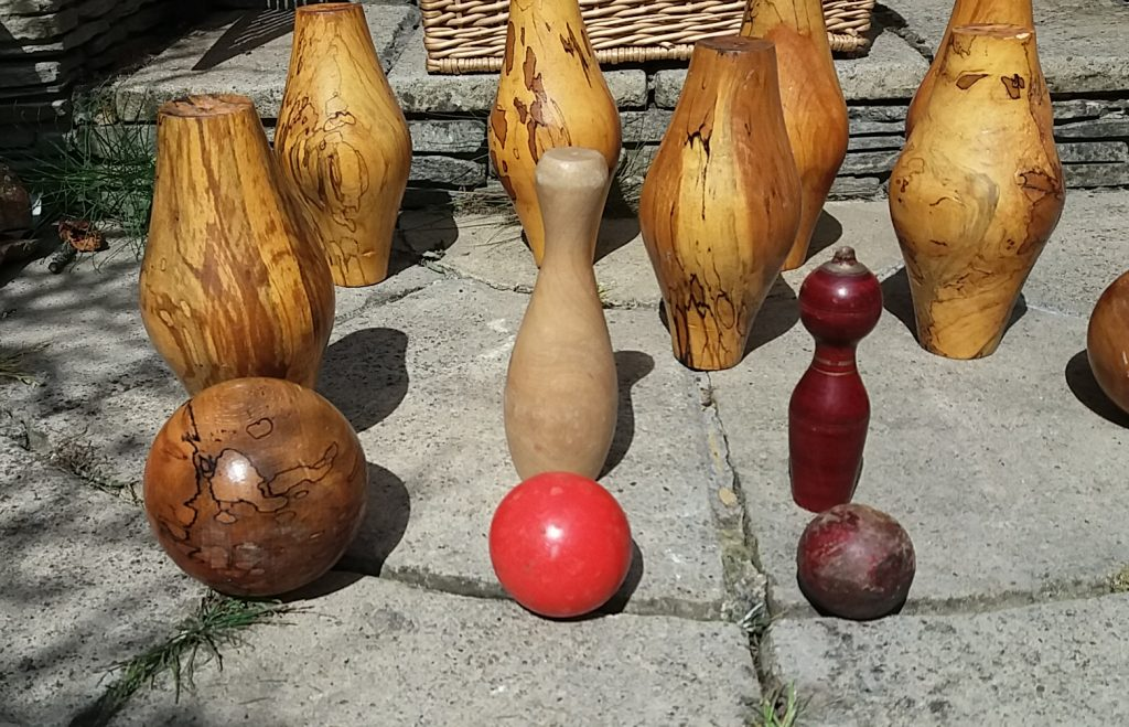 Variety of garden games available for hire - skittles