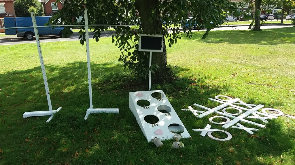 Wedding reception games hire, Limbo Bean Bag Toss Noughts and Crosses