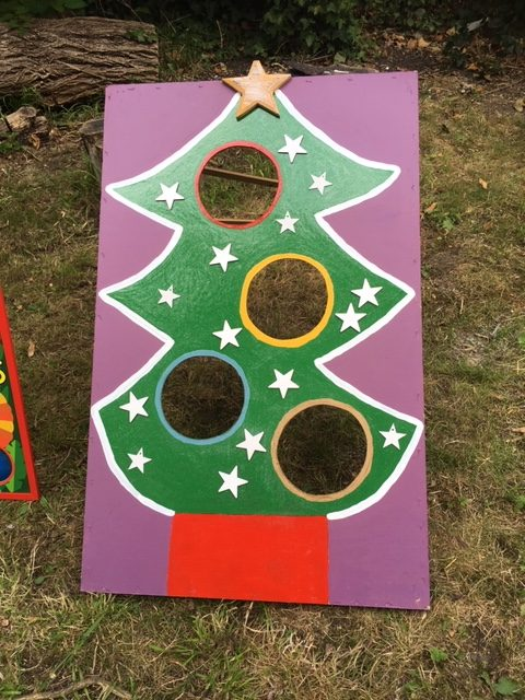 Christmas Fayre Bean Bag Toss Throw Hire Game for Schools