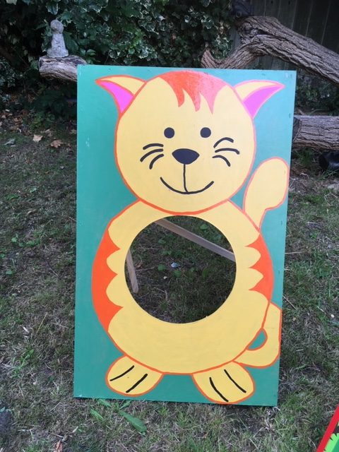 Cat Summer Fete Fayre Bean Bag Toss Throw Hire Game for Schools