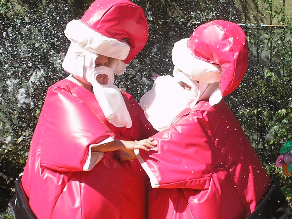 Santa Sumo Wresting Suit hire southampton christmas party hire Eastleigh