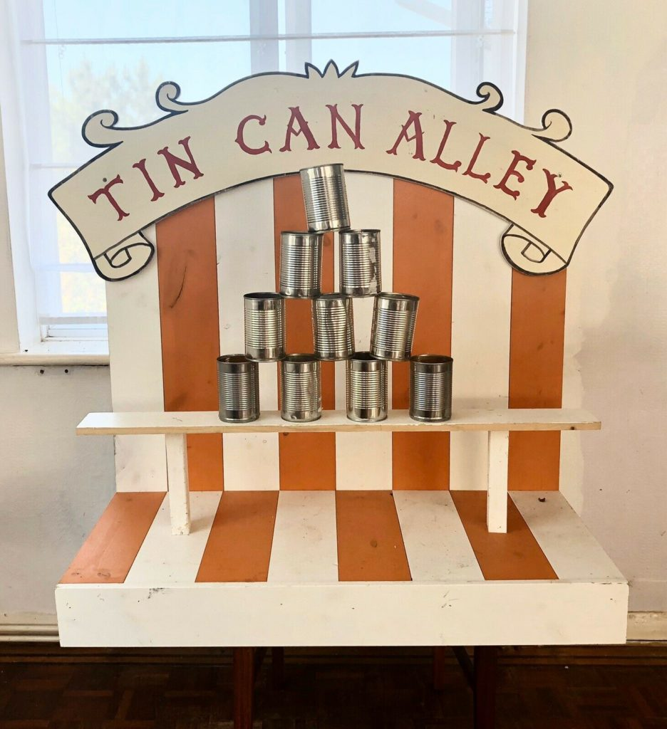 Fairground Tin Can Alley for Hire, Southampton Hampshire