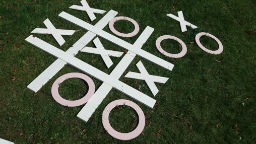 Noughts and Crosses White Wedding Party Game Hire Southampton