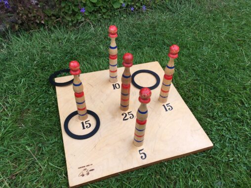 Quoits Ring Toss in a Colourful Design - Garden Game Hire Southampton